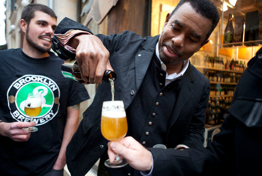 Brooklyn brewery pouring