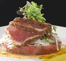 Tuna-sliced-sauce