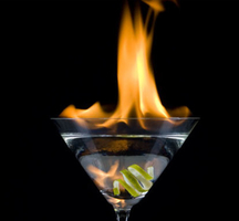 Flaming-cocktail