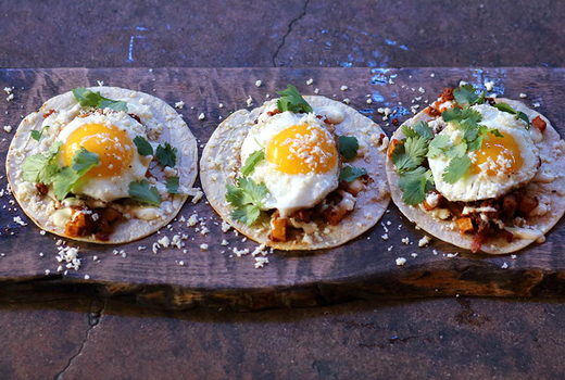 Breakfast tacos pinks