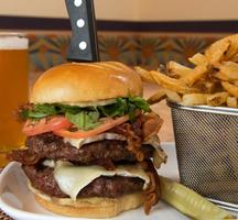 Burger fries delicious