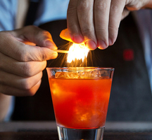 Bartender-drink-fire