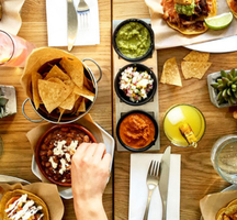 Mexican brunch spread nyc