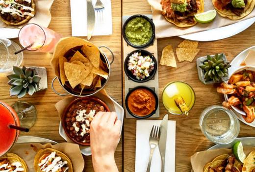 Mexican brunch spread nyc