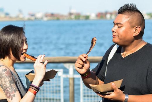 Waterfront breakfestival people