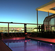 Plunge rooftop pool