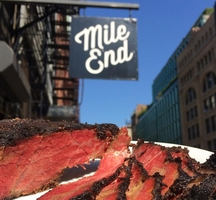 Mile end brisket shot