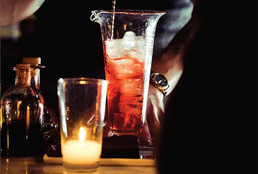 Halloween cocktail bartender