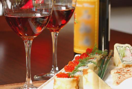 Sushi wine