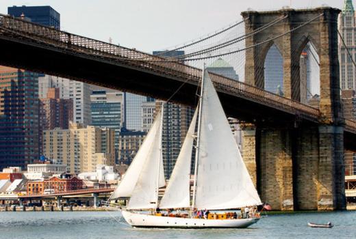 Manhattan by sail boat