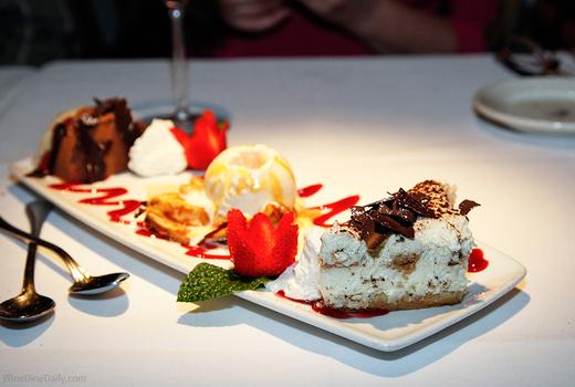 Dessert platter haute fine