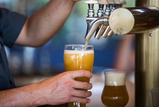Craft brew pours
