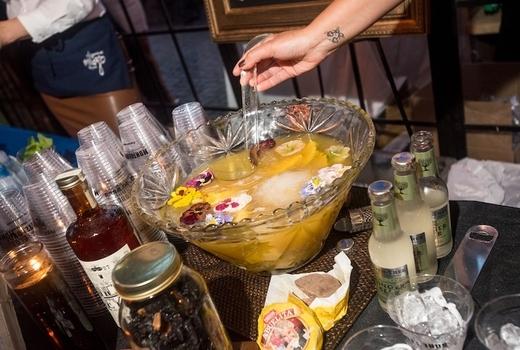 Arte agave fruit punch bowl