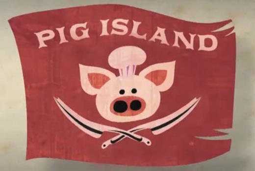Pig island logo