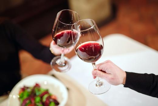 Mykonos blue red wine cheers