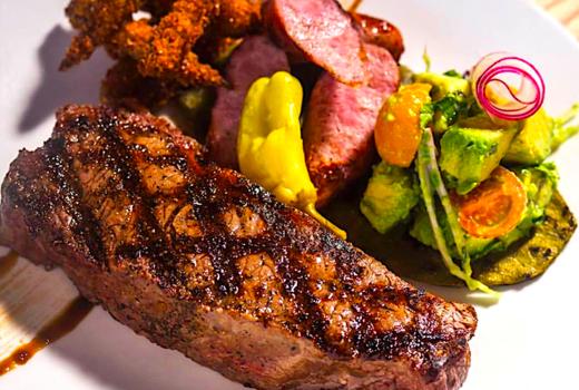 Temerario steak dinner juicy