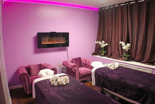 Lumiere spa purple fire
