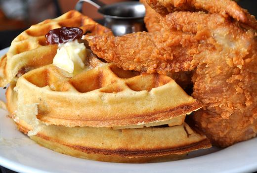 Le souk chicken waffles