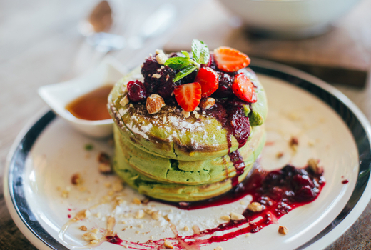 Rabbit house brunch matcha pancakes