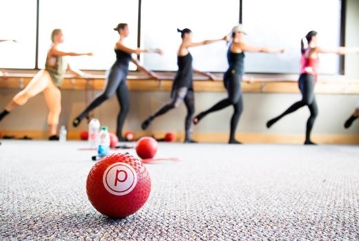 Pure barre women ball ballet
