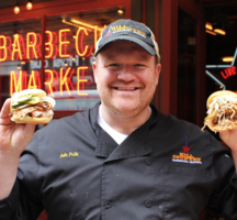Hill country bbq chef ash burgers
