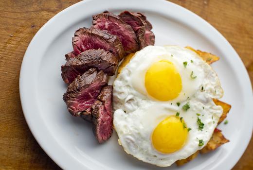Bedford steak eggs