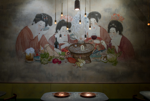 Tang hotpot decorations wall table