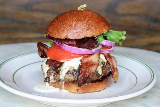 The late late that burger
