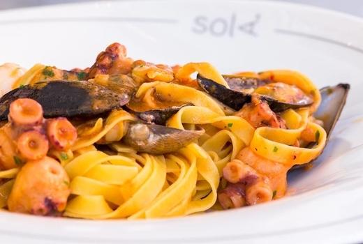 Sola pasta bar pasta seafood