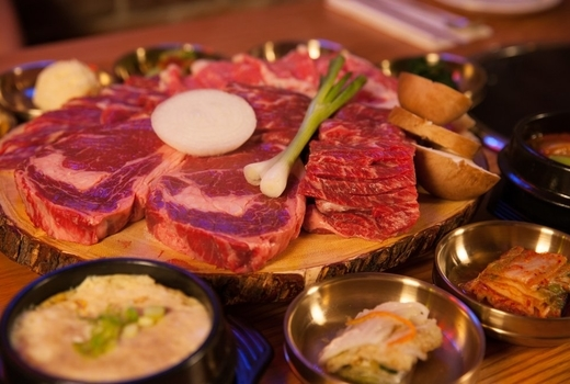 Grand seoul meat around veggies