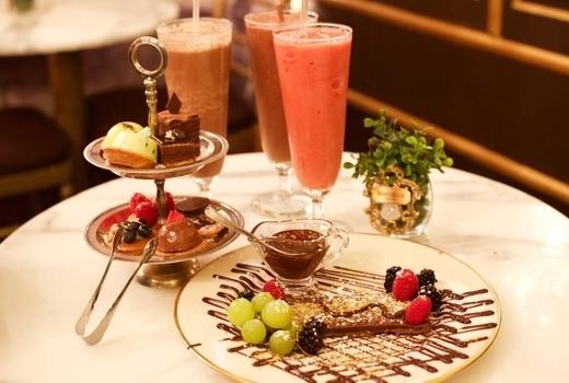 Mariebelle chocolate plate fruit