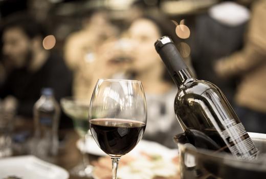 Dia restaurant dinner wine bottle red