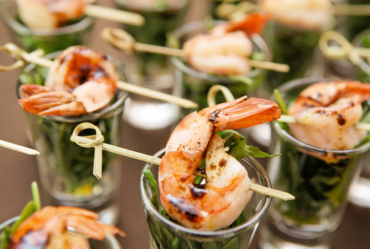 W hotel shrimp