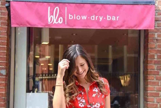 Blo blow dry bar walk outside