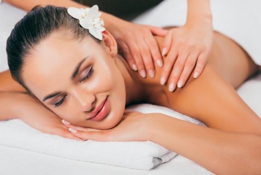 Galaxy spa massage lady smile