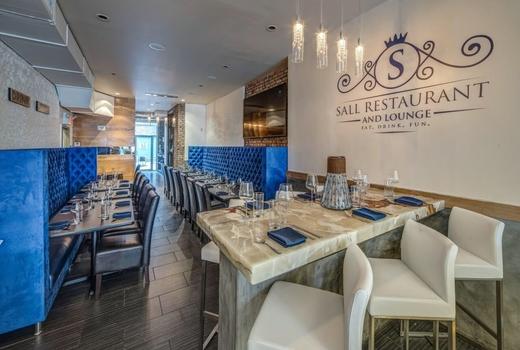 Sall restaurant inside high wide