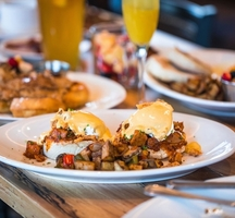 Ainsworth brunch dishes drinks spread
