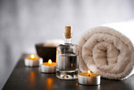 Le bon oils towel spa