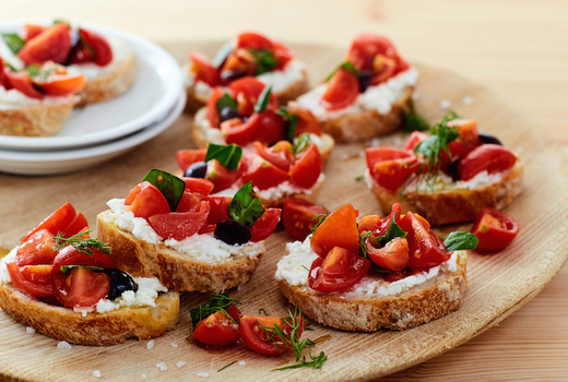 V empowered bruschetta