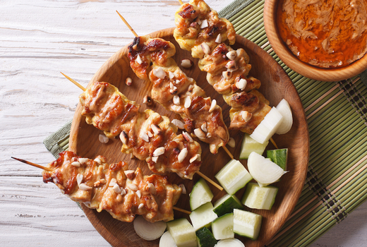V empowered chicken satay