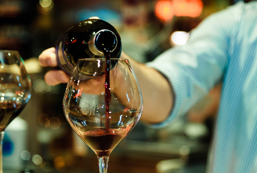 The village lantern pour wine on me bartender thanks