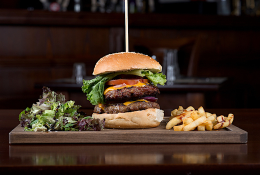 The village lantern burger fries love board
