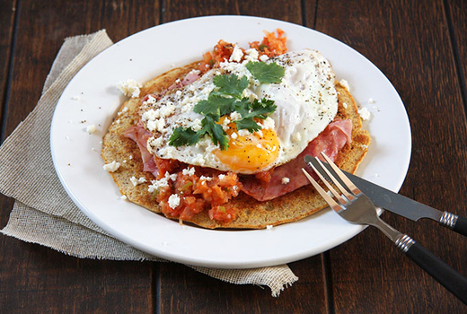Huevos rancheros pinks