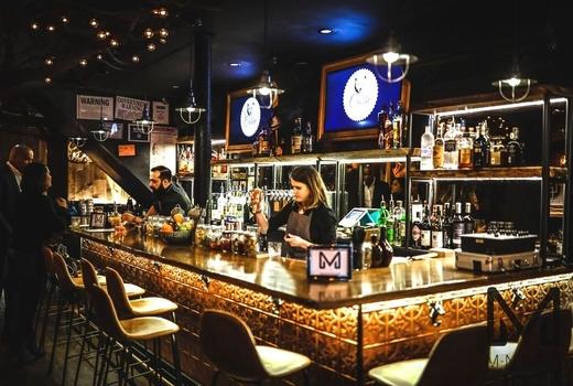 The cabin inside bar