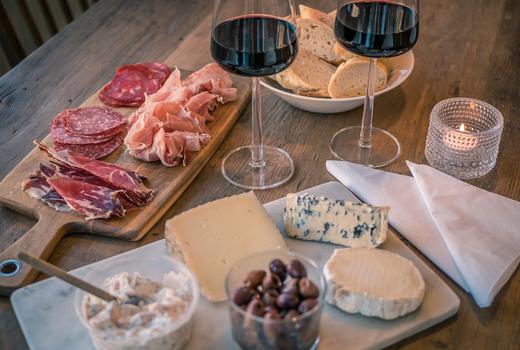 The cabin charcuterie wine