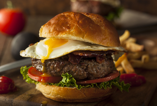 Printers alley breakfast burger