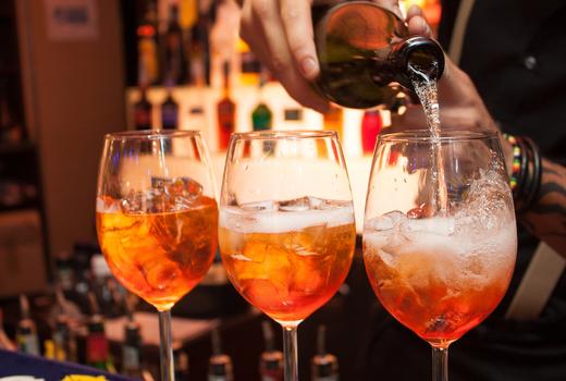Wine fest aperol spritz