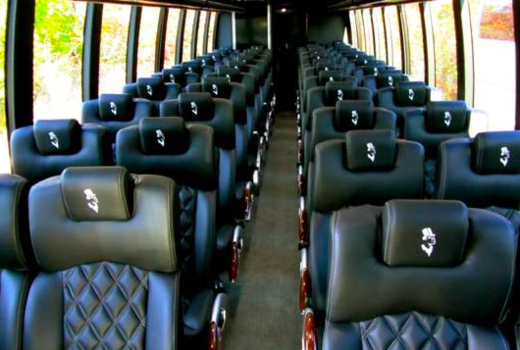 Hamptons liner inside bus