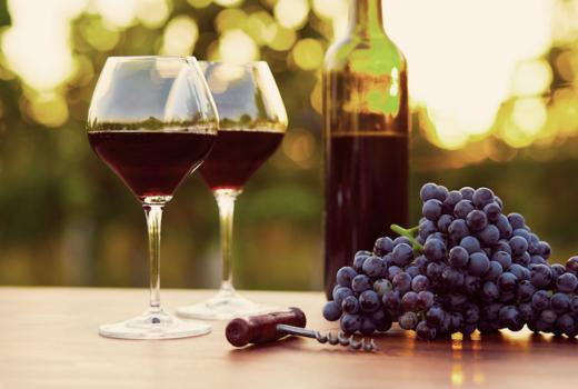 Hampton liner wine vineyard red