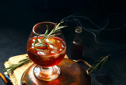 Spring tippler smokey cocktail